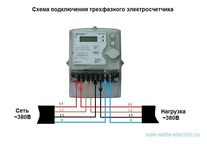 Схема подключения электросчетчика