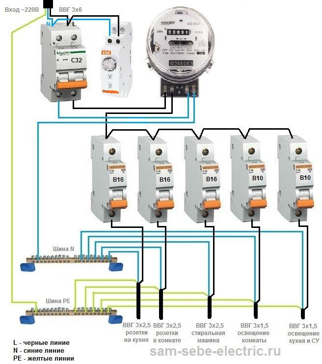 Схема подключения неоновую лампу