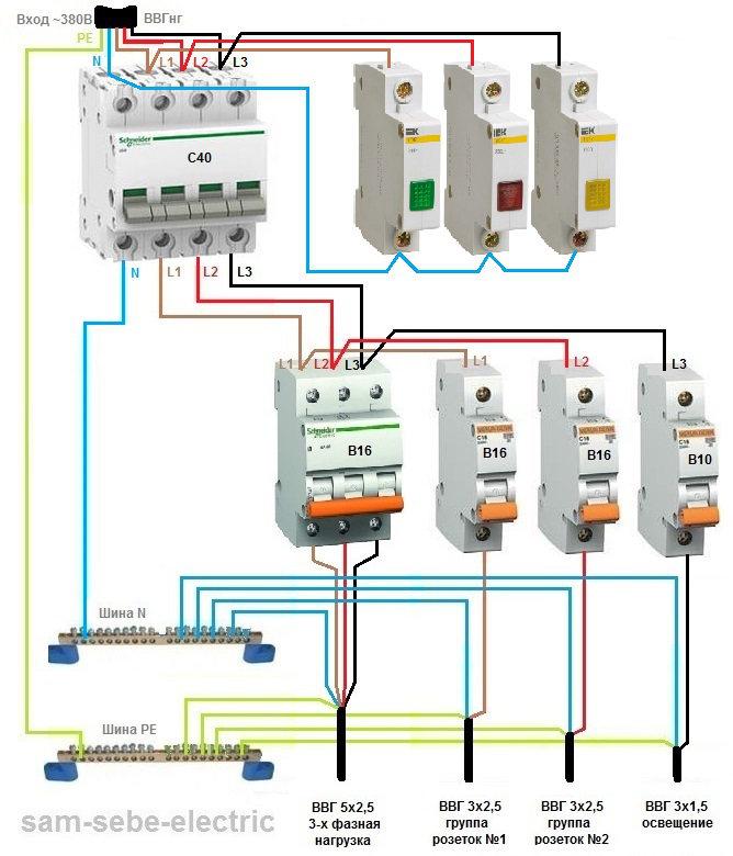 Схема подключения сигнальной