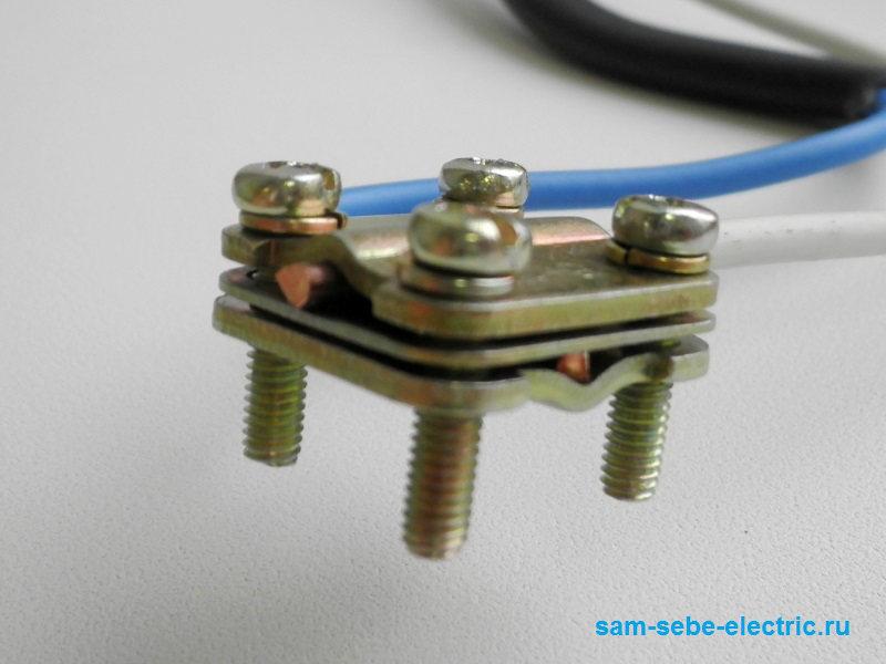 Как соединять провода разного сечения?